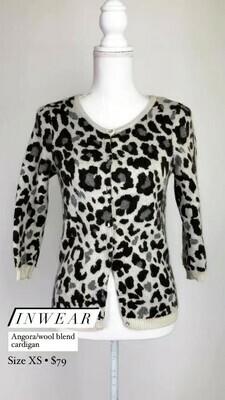 Inwear, Angora/Wool Blend Cardigan, Size XS