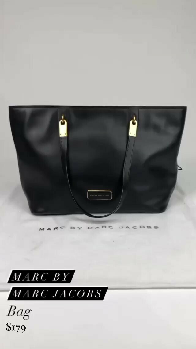Marc By Marc Jacobs, Black Leather Bag