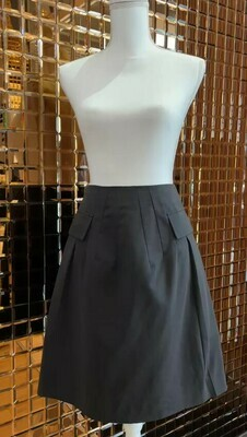 Marni, Black Asymmetrical Pocket Skirt, Size 40