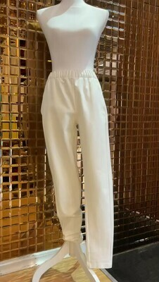 Jac+Jack, White Elasticated Pant, Size 8