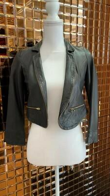 Mister Zimi, Black Leather Jacket, Size 10