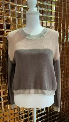 Zimmermann, Browns/Blush Cotton Jumper, Size 0