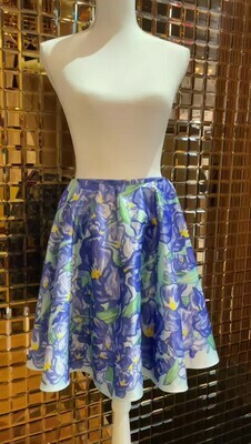 Curated, Blue Floral Flare Skirt, Size M