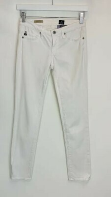 AG Adriano Goldschmied, White Denim Pants, Size 26