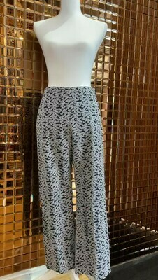 Scanlan Theodore, Navy/White Leaf Print Pants, Size 10