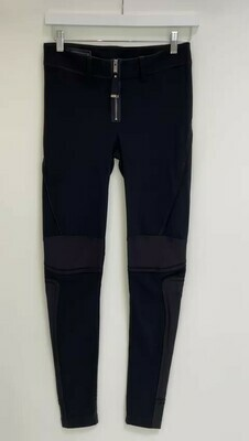 High, Black Legging Pant W/ Leg Panel Detail, Size 27