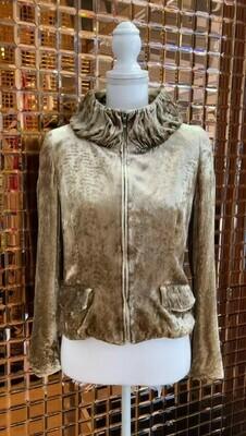 Dana Buchman, Gold Velvet Jacket, Size 2