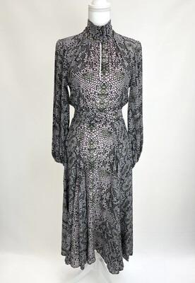 Husk Reptile Print Silk Dress