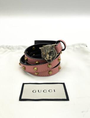 Gucci Feline Studded Belt