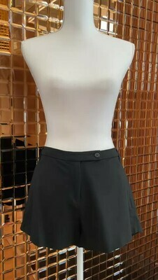 Scanlan Theodore, Black Wool Blend Shorts, Size 10