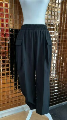 Viktoria & Woods, Black Bamboo Blend Elasticated Waist Pants, Size 3