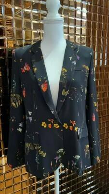 Ipekyol, Black/Floral Jacket, Size 8