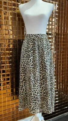 By Willa, Browns/Creams Animal Print Long Skirt, Size 10