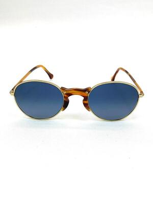 L.G.R, Gold/Tortoiseshell/Blue Mirrored Sunglasses