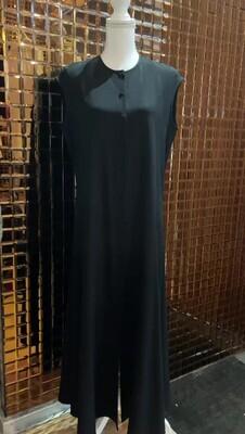 Carla Zampatti, Black Button Front S/Less Maxi Dress, Size 14
