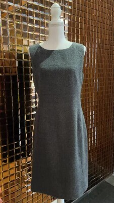 Synonyme, Grey Alpaca/Wool/Mohair Blend S/Less Dress, Size 40