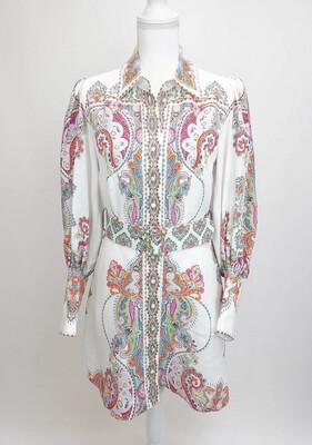Zimmermann Paisley Print Linen Dress. Size 2