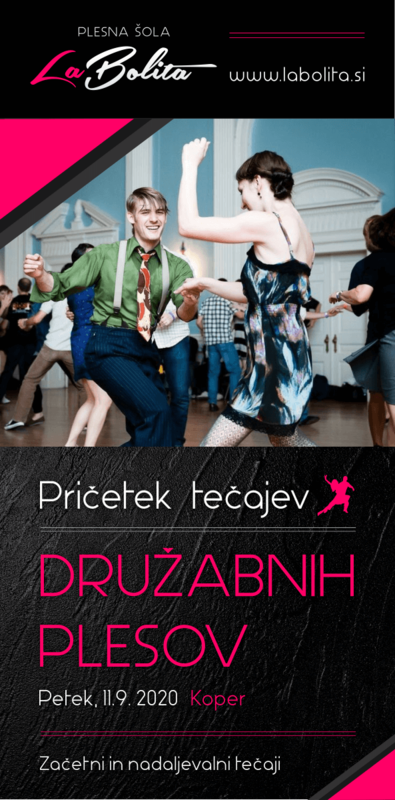 Plesni tečaji  - Družabni plesi -  Koper - Izola - Portorož