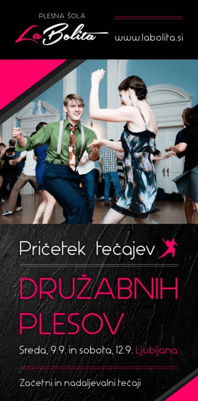Plesni tečaji - Družabni plesi -  Ljubljana
