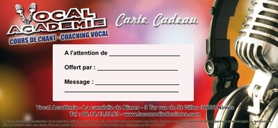 Carte cadeau Cours de Chant