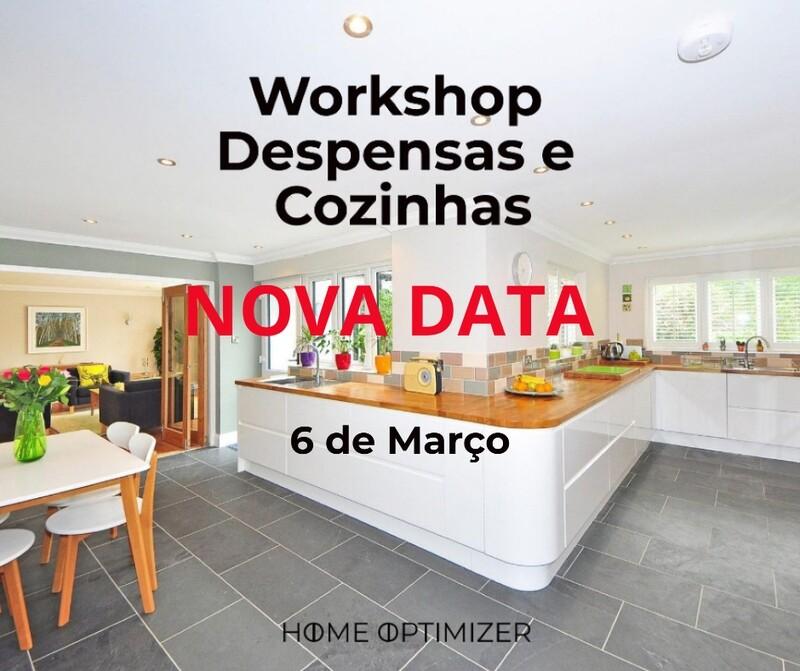 Workshop Organização da Cozinha e Despensa - 6 de março – Sábado
