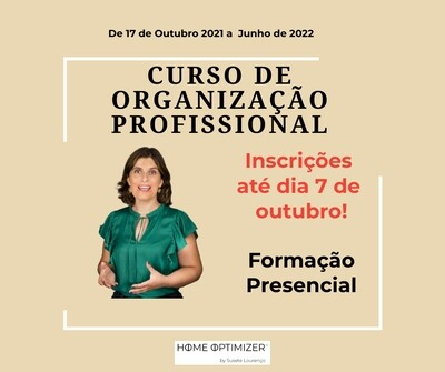 Curso de Organização Profissional – Outubro 2021