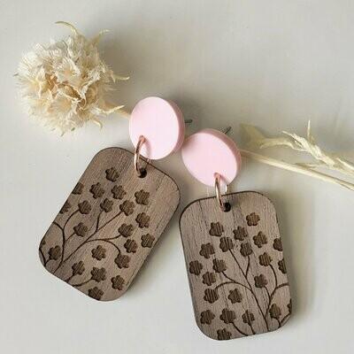 Wood dangle earrings | laser cut earrings | timber earrings | Australian made | wooden drop earrings