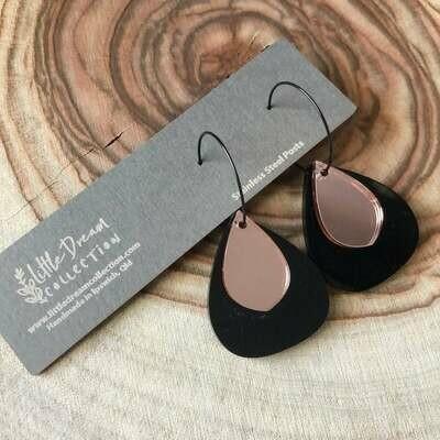 Layered hoop earrings | Teardrop hoop dangles | acrylic earrings | acrylic dangles | Australian made