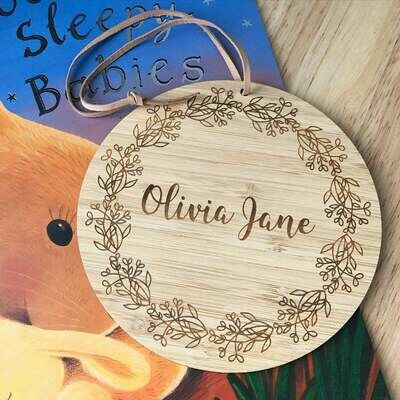 Name Plaque | Personalised Timber Name Sign | Custom Nursery Sign | Door Sign | Wall Decor | Name Sign | Name Disc | Australian made | Sign