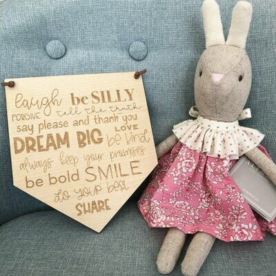Children's Wall Hanging | Bedroom Sign | Affirmation Sign | Rules Sign