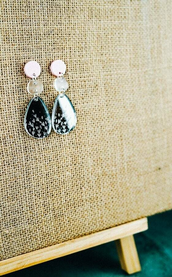 Mirror Acrylic dangles   Acrylic earrings   Elegant Earrings   Pastel coloured jewellery   Acrylic earrings Australia   Australian maker