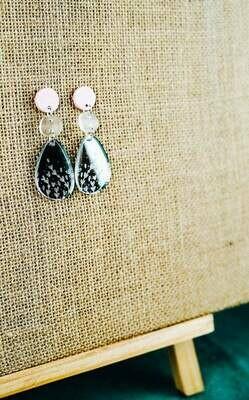 Mirror Acrylic dangles | Acrylic earrings | Elegant Earrings | Pastel coloured jewellery | Acrylic earrings Australia | Australian maker