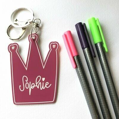 Personalised School Bag Tag. Custom Bag Tag, Kids Bag Tag, Childrens School Bag Tag, Childrens keychain, Girls school bag tag, shaped tags