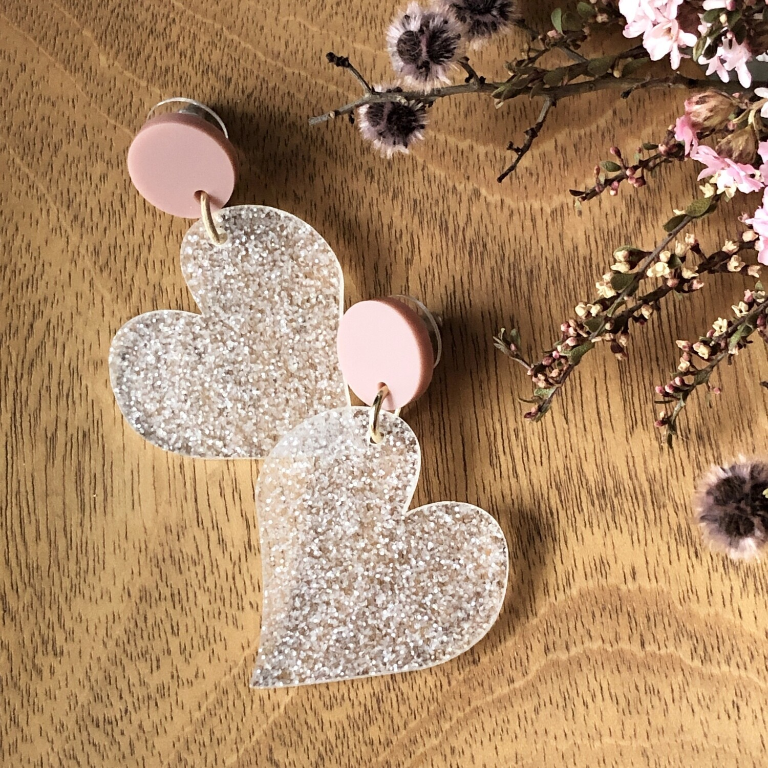 Glitter Heart earrings