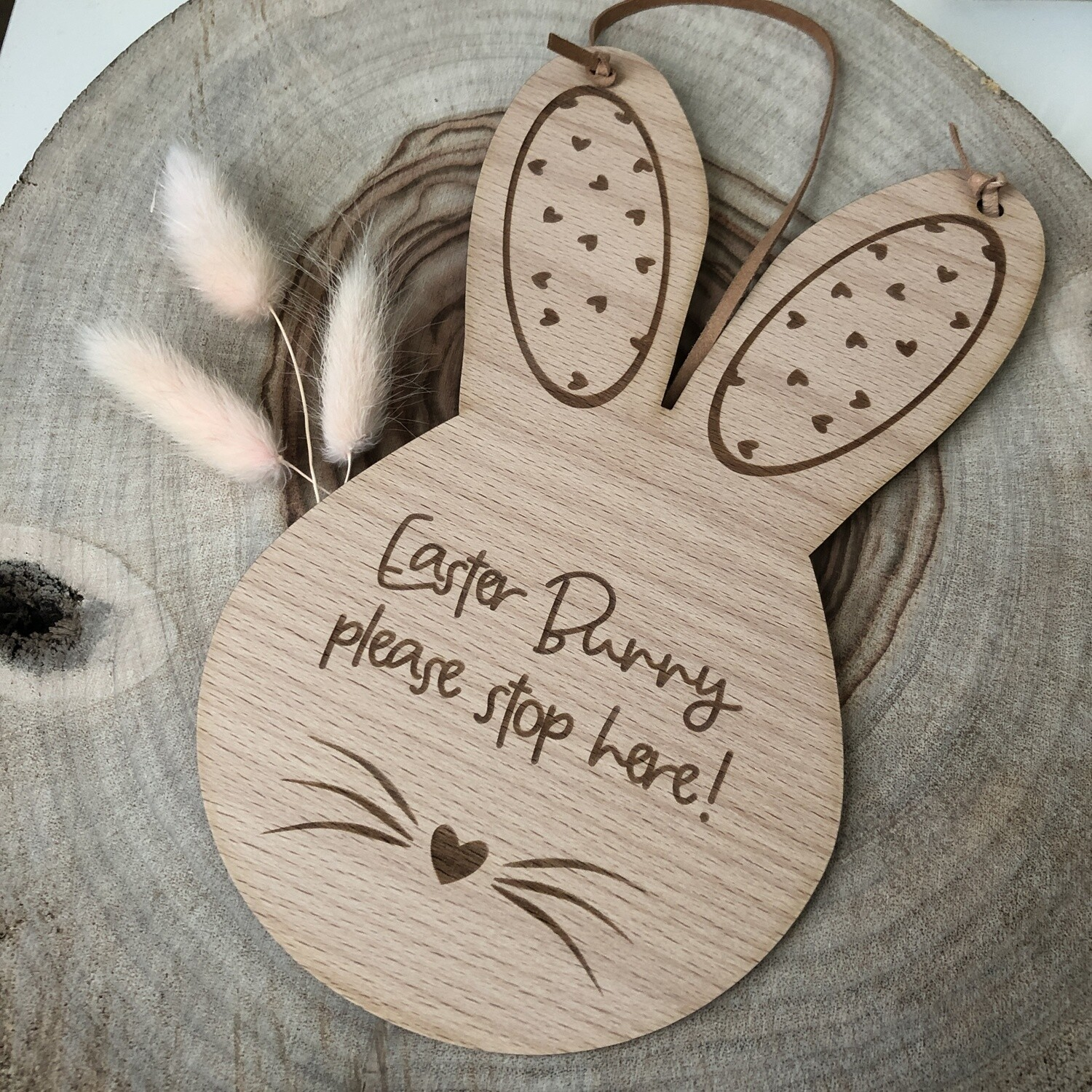 Easter Bunny Please Stop Here Sign