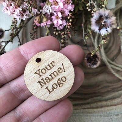 Wooden tags - Round