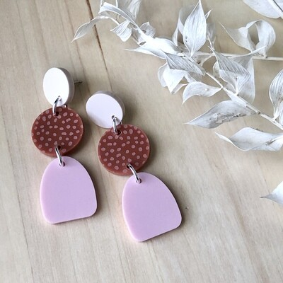 Molly Pink Dangles