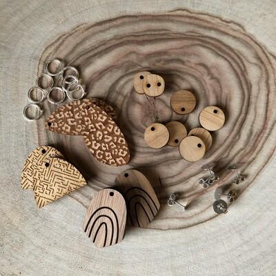 Wooden Earring Kit