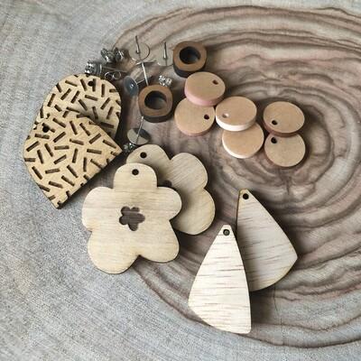 Wooden Earring Kit | Earring Kit | DIY earring kit