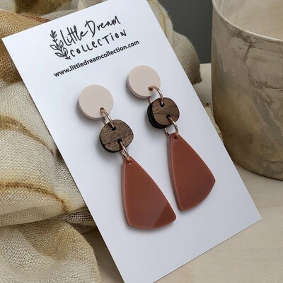 Small Statement Earrings | Acrylic statement earrings | autumn acrylic earrings | Laser cut earrings | Australian made