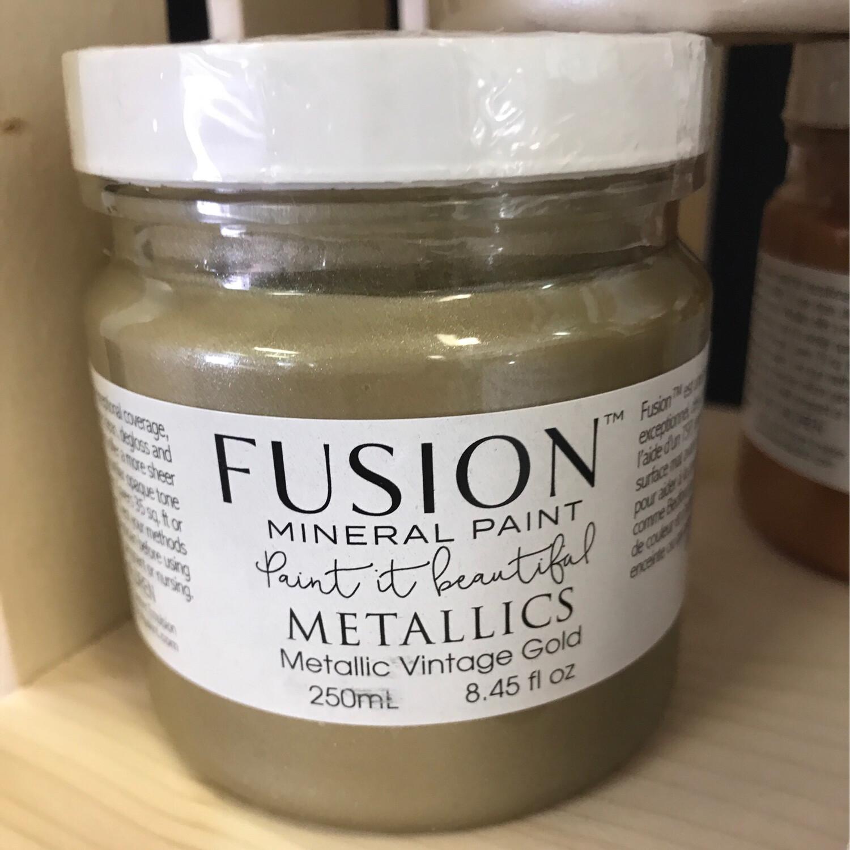 Fusion Metallic Vintage Gold 250ml