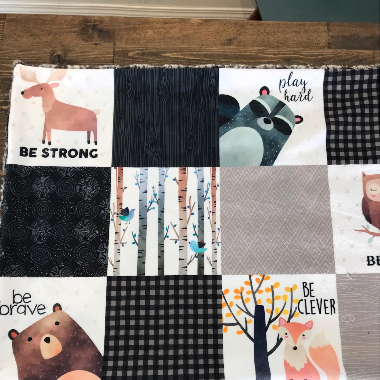 Minky Blankets  Be Brave #40