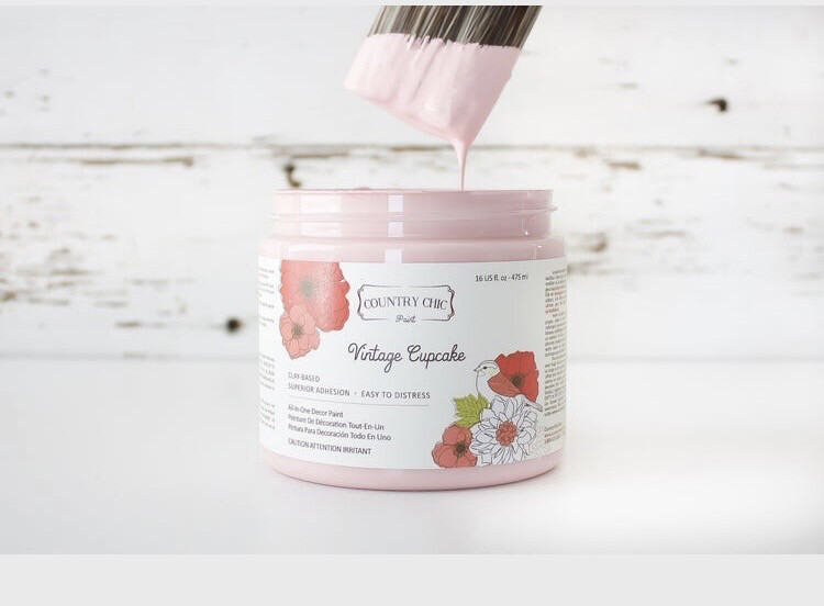 Country Chic Vintage Cupcake 4oz