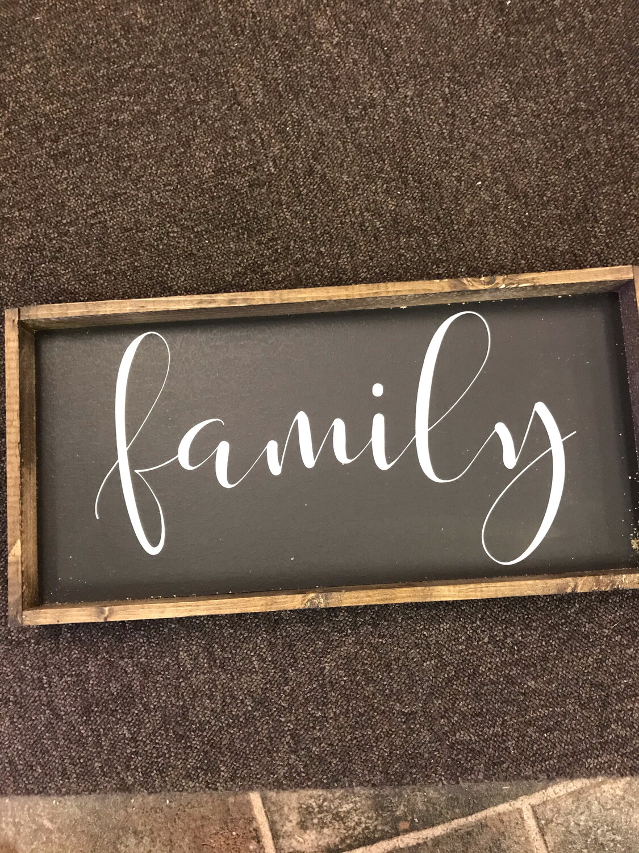 Family Wood Sign Black
