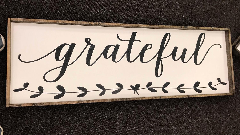 Grateful Wood Sign