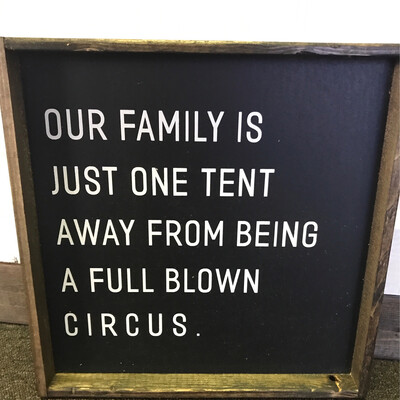 Family Tent Wood sign