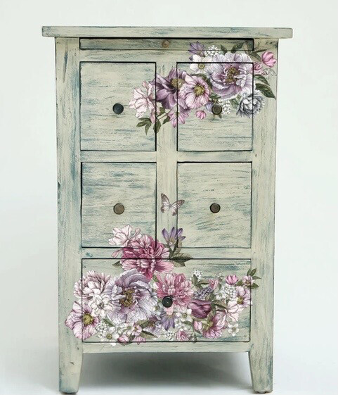 Dreamy Florals Decor Transfer