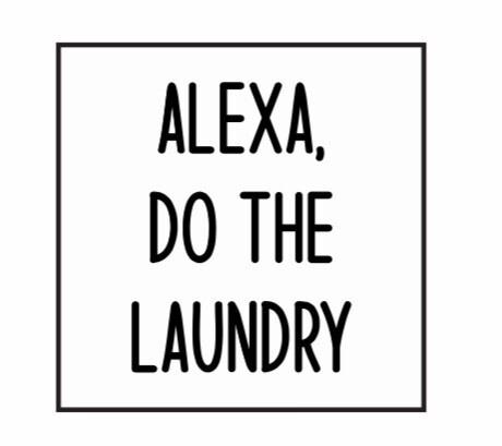 Alexa Laundry DIY Sign