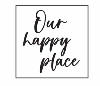 Our Happy Place DIY Sign