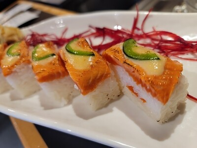 Seared Salmon Box Sushi